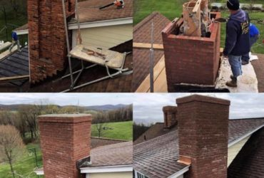Chimney Project by All Craft Roofing in New Jersey